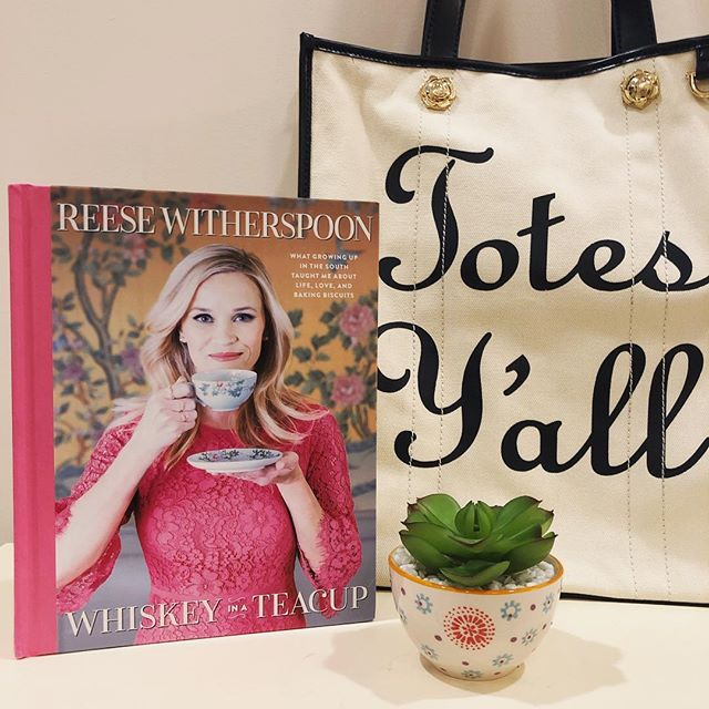 Happy Saturday! ☀️ Anyone read @reesewitherspoon 's new book?! It's so fun! wishing I had her closet and knew how to cook all the recipes in it! 😂😍 #whiskeyinateacup #notaboutwhiskeyjusttoclarify 😂 lol!