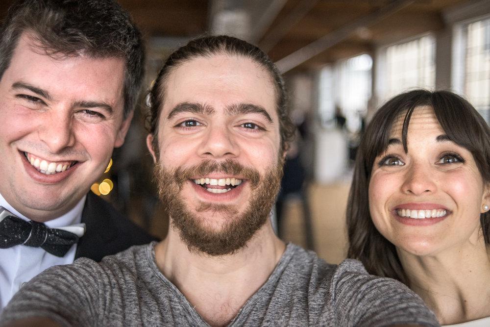 Selfie with newlyweds Dorothée & David, 2018.