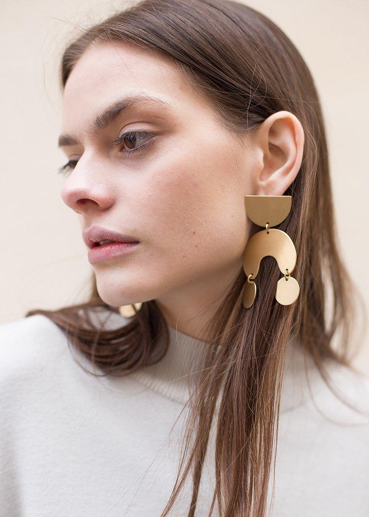 Modern Weaving Moon Dancer Earrings , $120