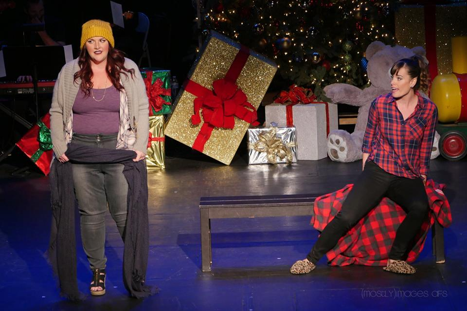 "Kymberli McKanna and Katherine Tokarz put a new twist on the classic ""Baby It's Cold Outside""..."