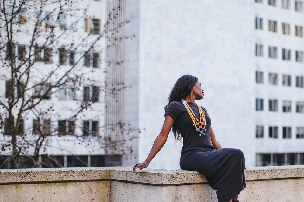 "Photographer: Cecilia Corsano  Model: Anita Mwiruki  Wearing the ""Some Some #2"" necklace"