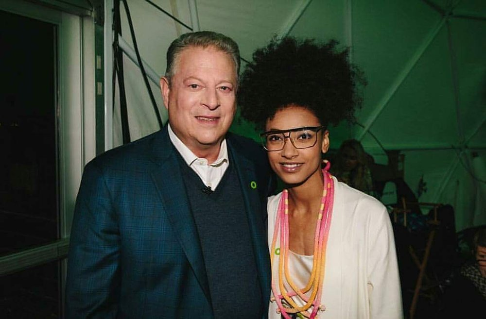 Esperanza Spalding and Al Gore