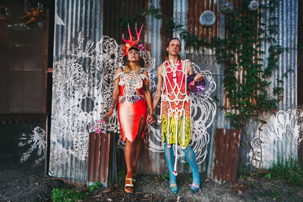 Photographer:  Najva Sol   Models/artists:  Monica Canilao  and Xara Thustra wearing a Hugo Gyrl cutout dress  Shot in New Orleans November 2017