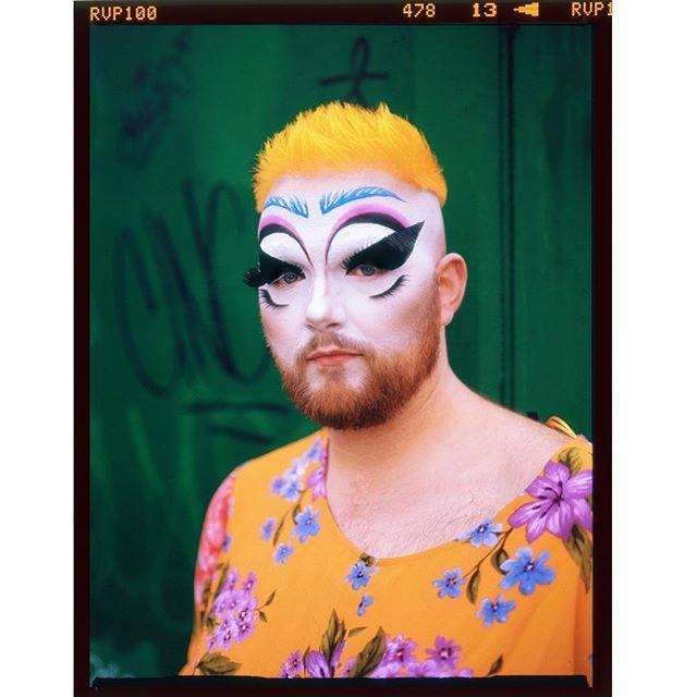 💛spring tones w @unicornriverchild 💚 . . . . . #fuji #velvia100 #120 #bronica #etrs #queerart #drag #shootfilm #queer #velvia #analog