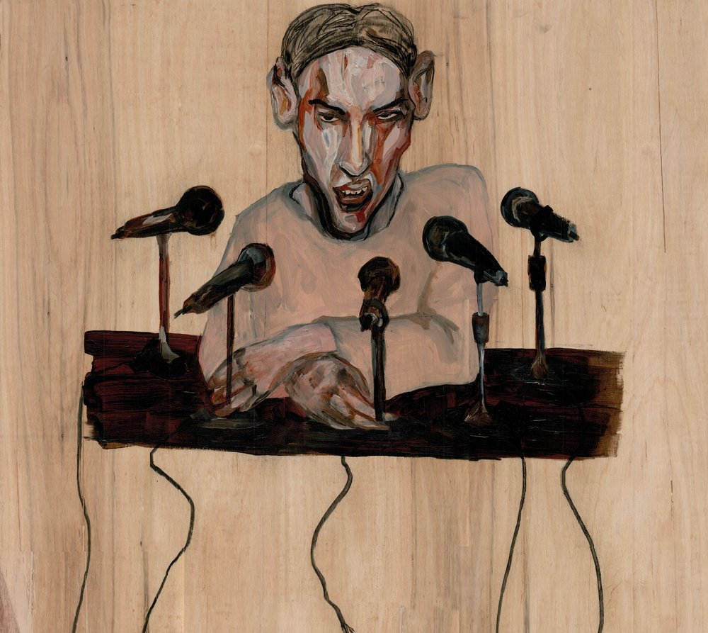 Acrylic on wood 2015