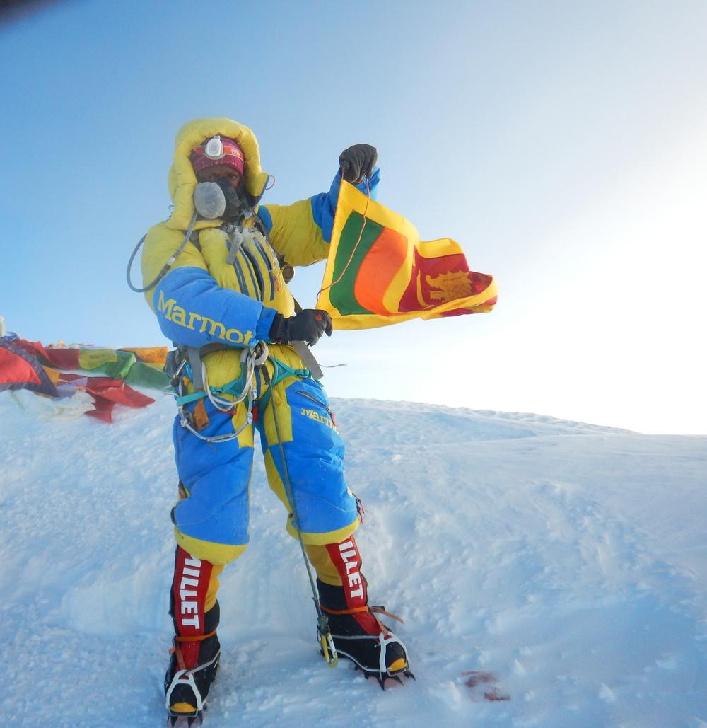Jayanthi Kuru-Utumpala, the first Sri Lankan to climb Mt.Everest.