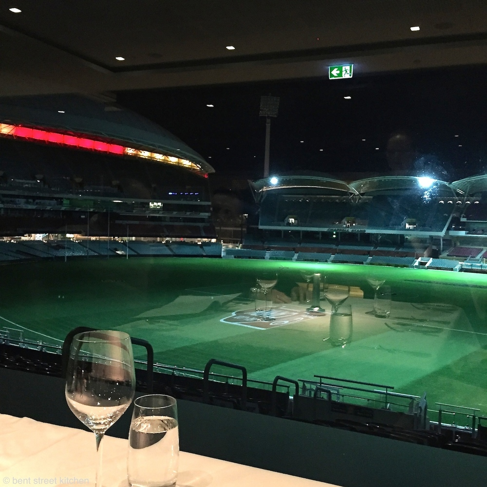 View of Adelaide oval from Hill of Grace restaurant