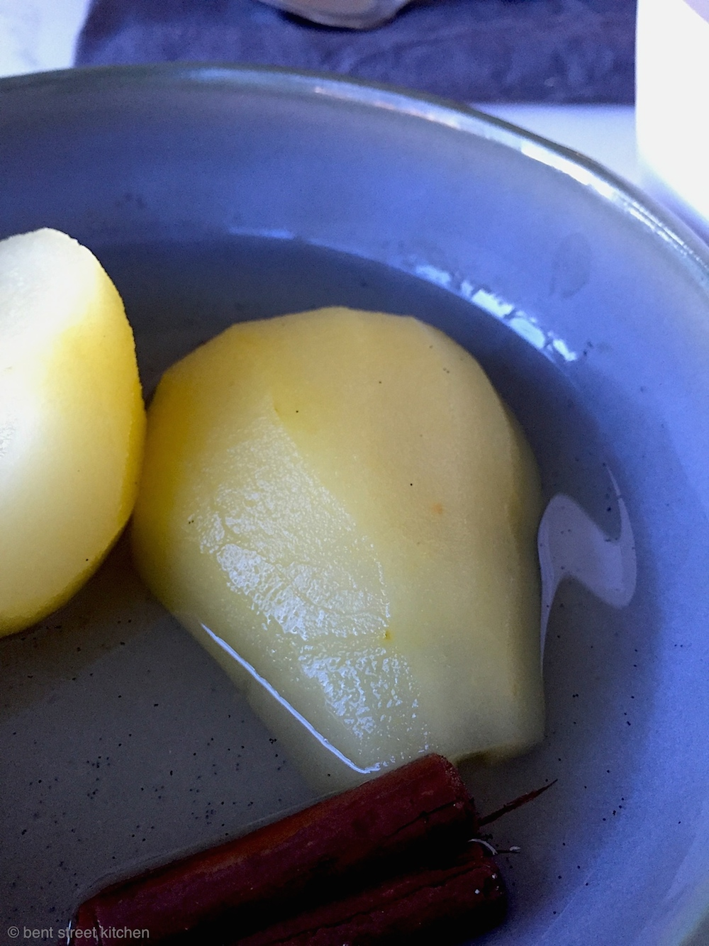 Vanilla & Cinnamon Poached Pears by Bent Street Kitchen