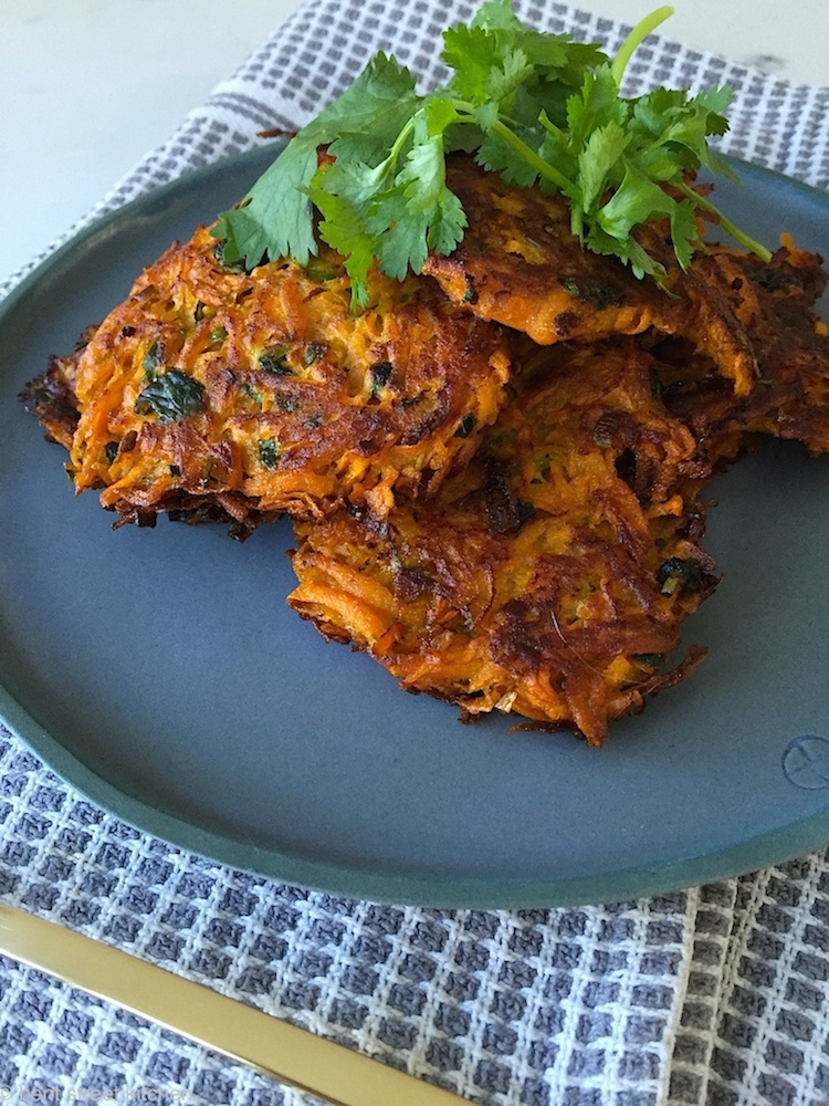 sweet potato and coriander fritters by Bent Street Kitchen