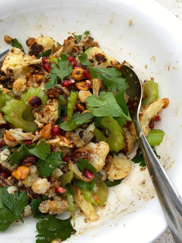 Ottolenghi's Roasted Cauliflower, Hazelnut and Pomegranate Salad by Bent Street Kitchen