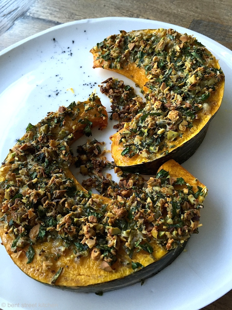 Roasted Pumpkin with Parmesan and Pistachio Crust by Bent Street Kitchen