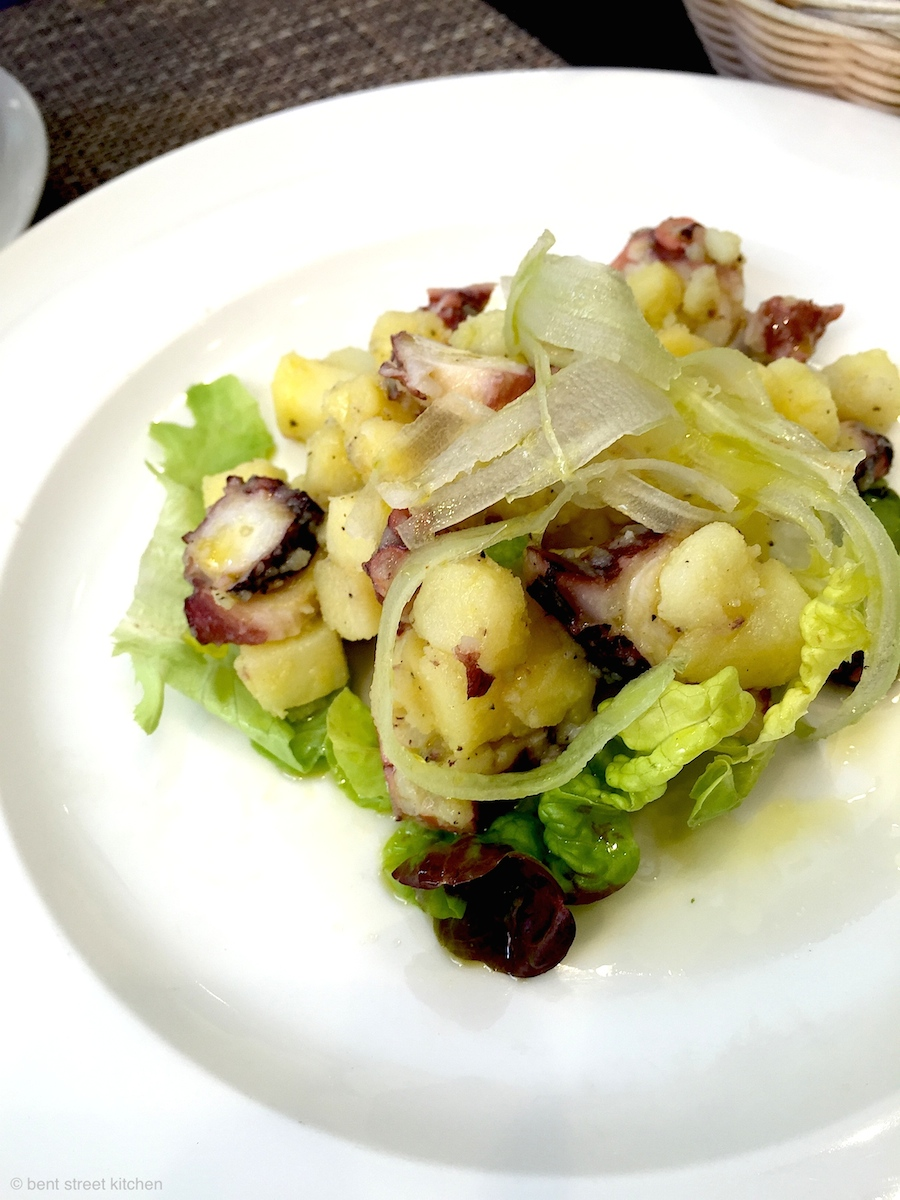Octopus, potato & celery salad from Palatum Enoteca Regionale
