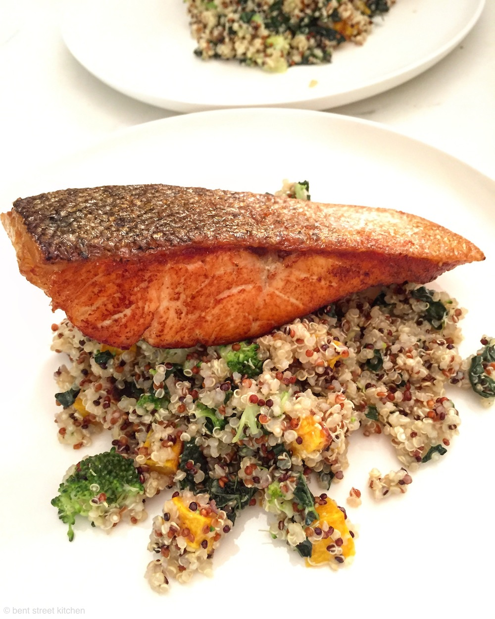 crispy skin salmon & quinoa salad