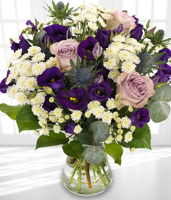 English Hedgerow - Using the finest and freshest Purple, lilac and white stems,  your flowers will be hand chosen by us to ensure freshness.  Shop the bouquet here