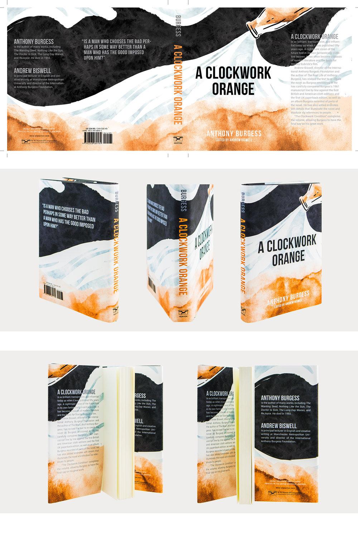 """detail on """"the clockwork orange"""" book jacket redesign."""