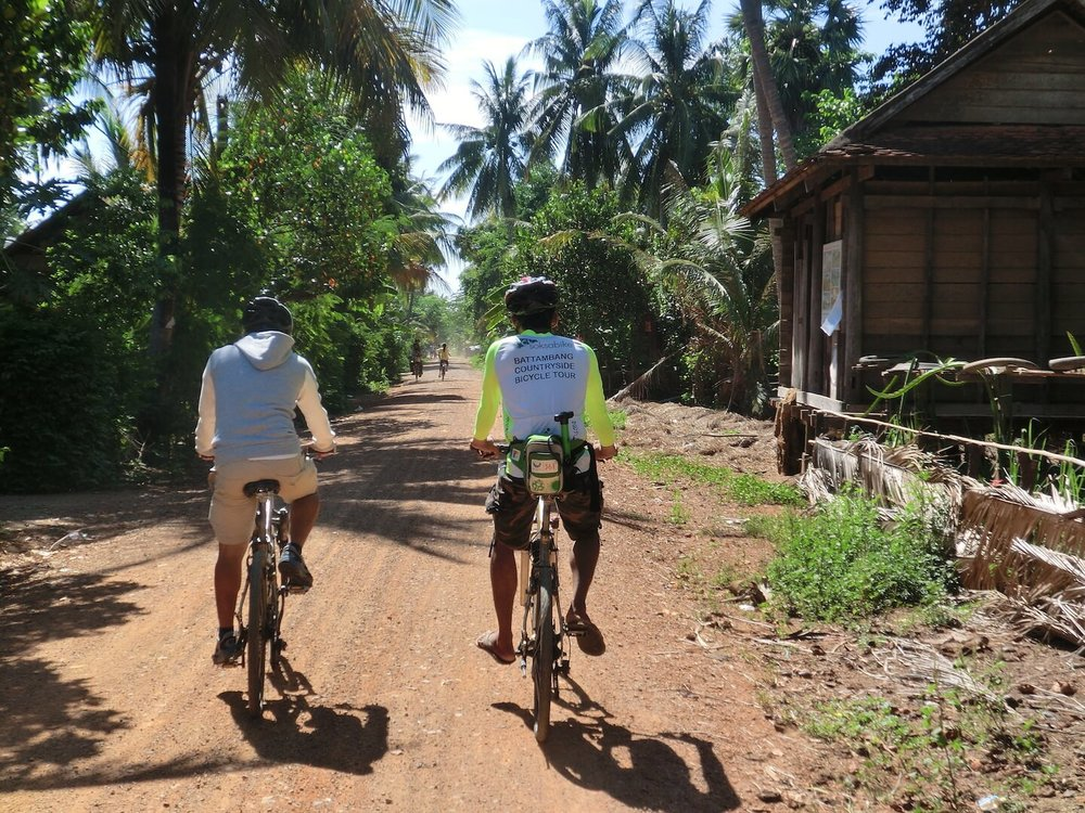 Check out some great scenery along the way - get off the beaten track and experience rural cambodia.