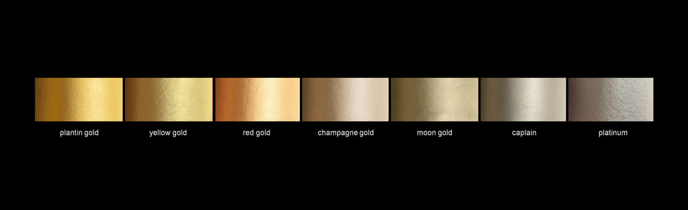 gold leaf finish colour options