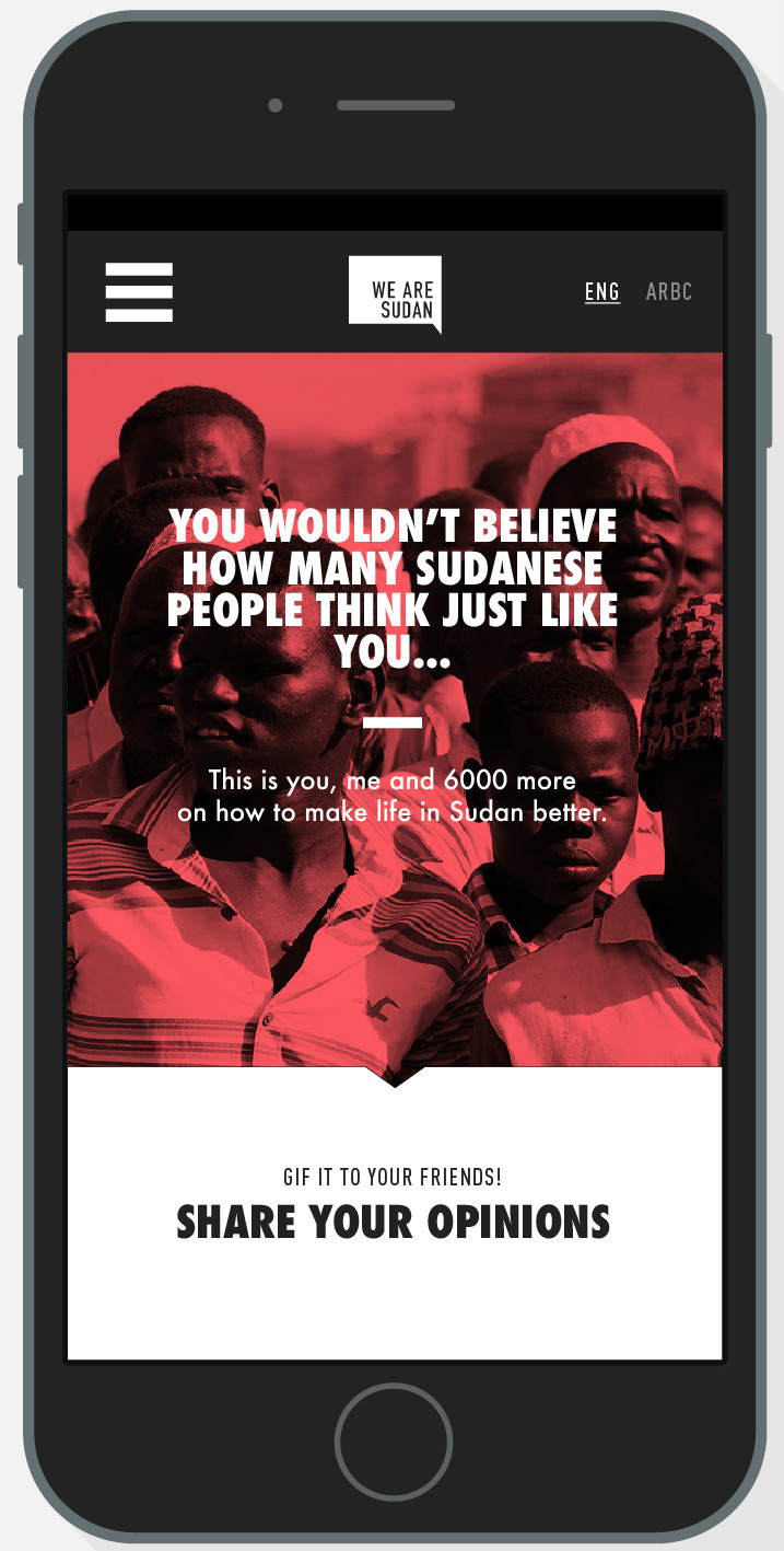 The KACE campaign was mobile first, as most Sudanese who go online use mobile phones