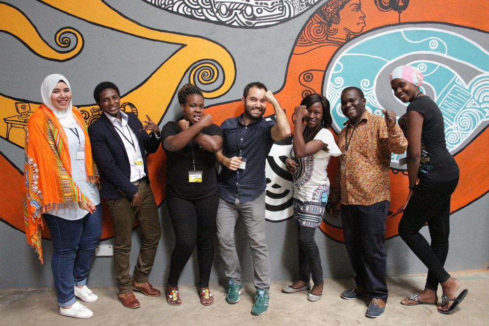 The team consisted of two HAKI representatives Wevyn and Mamu, they were matched with a creative team headed up by DATA4CHANGE alumni Jacopo who heads up data projects at Code for Africa. Their team consisted of Elric (front end developer from Uganda), Joachim (data analyst from Tanzania), Henar (graphic designer from Egypt), Emma (data journalist from Kenya).