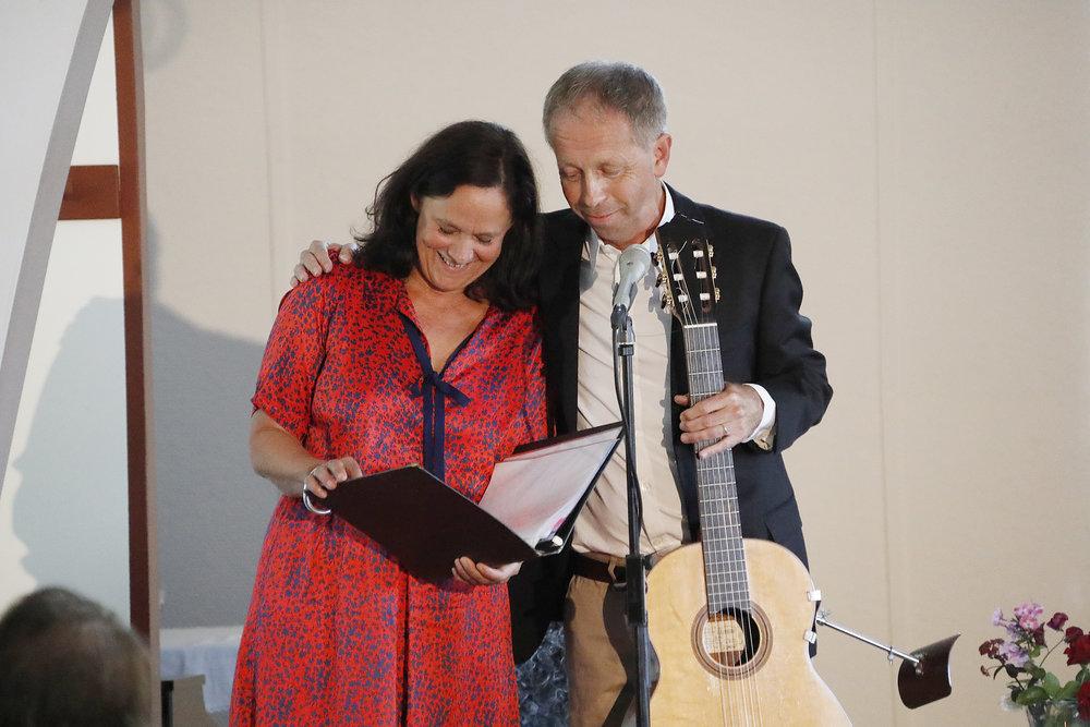 Pernilla August och Göran Söllscher