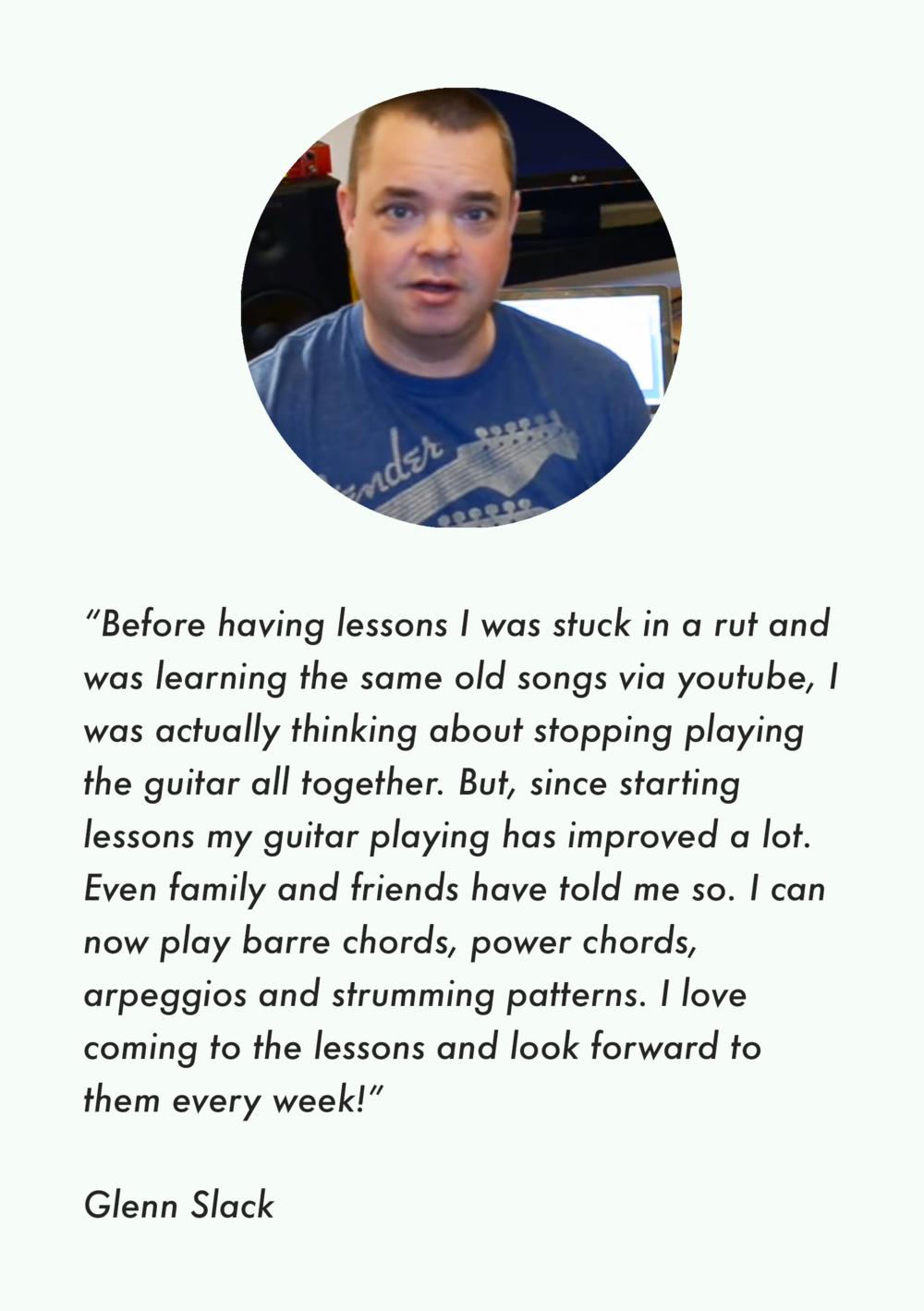 testimonial darryl powis guitar teaching for beginners london stratford