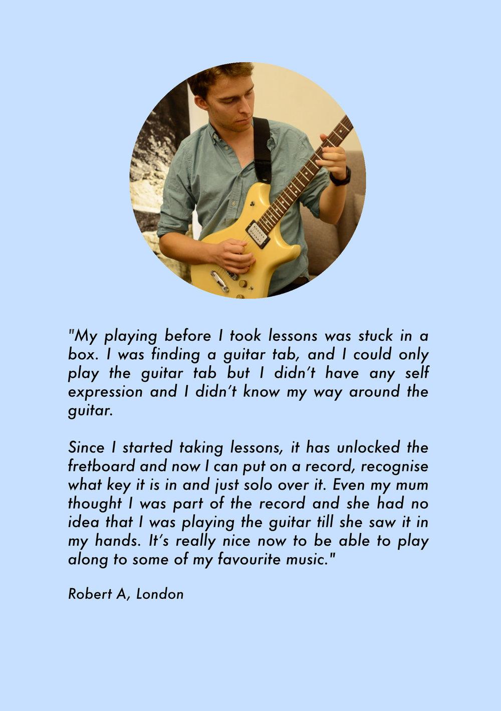 Guitar lessons beginners london