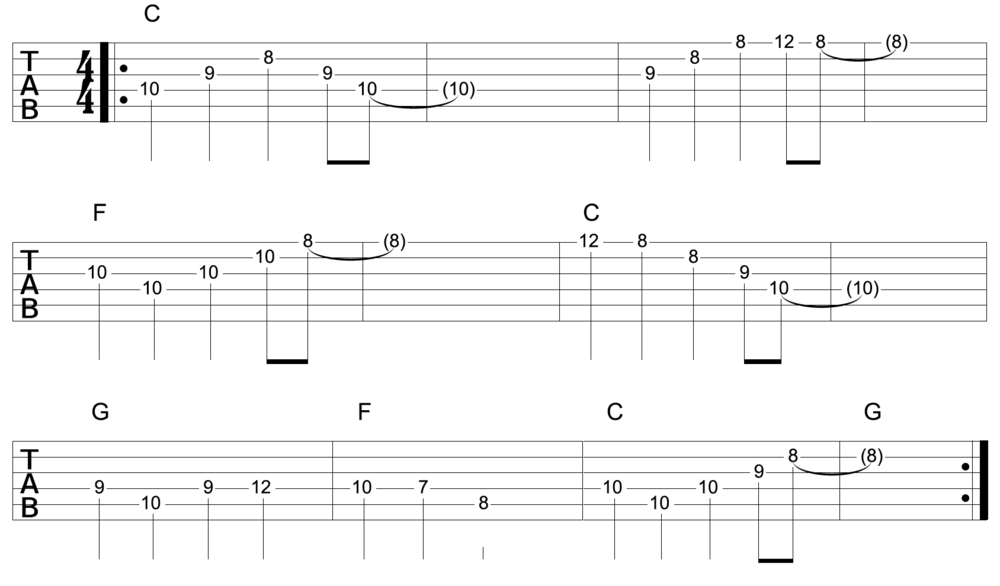 arpeggios over 12 bar blues