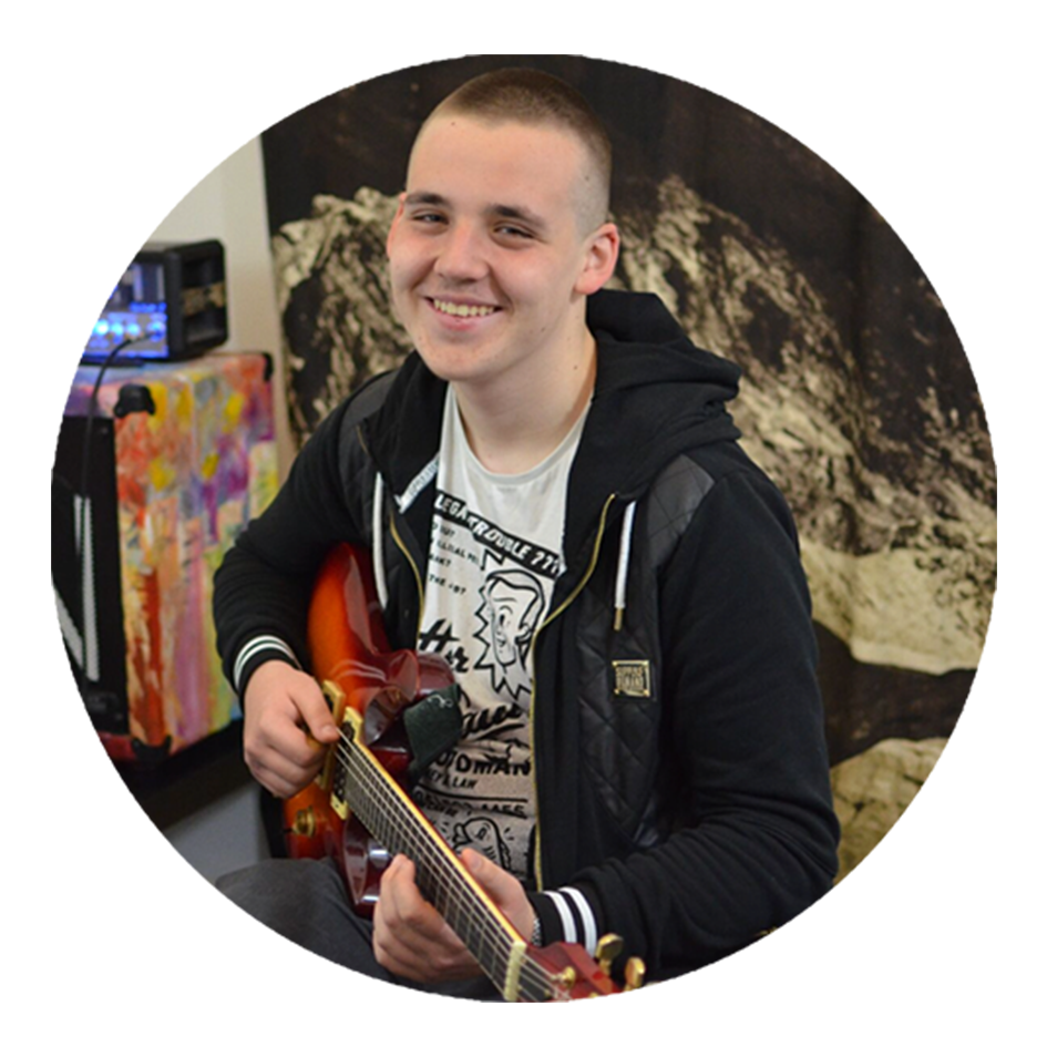 Blazej, 15, electric guitarist
