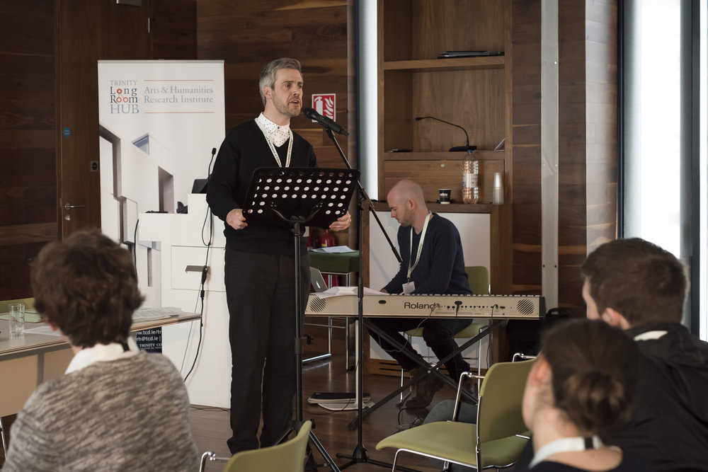 Michael Gallen and Barry Edward Fitzgerald perform at the First International Conference of Ultimology. Documentation photography by Louis Haugh.