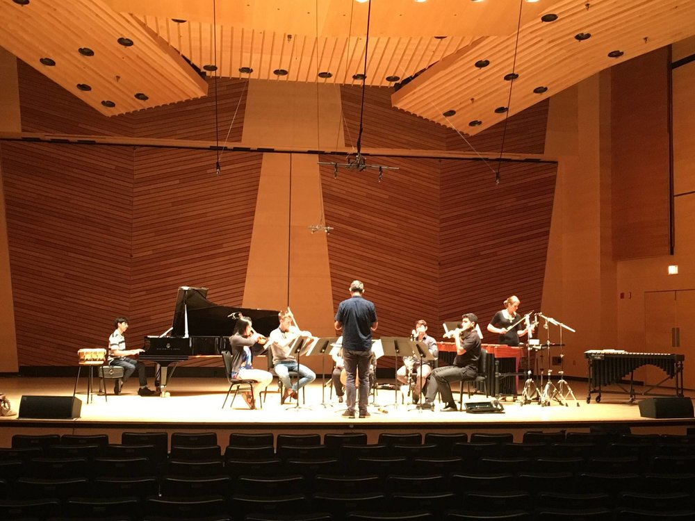 Linda's work  Personified River: Whanganui  being rehearsed by the Aspen Contemporary Ensemble at the Aspen Music Festival 2017
