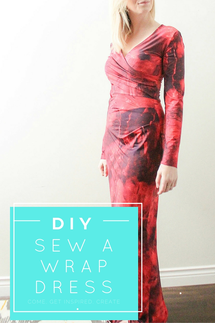 DIY Sew a wrap dress pattern