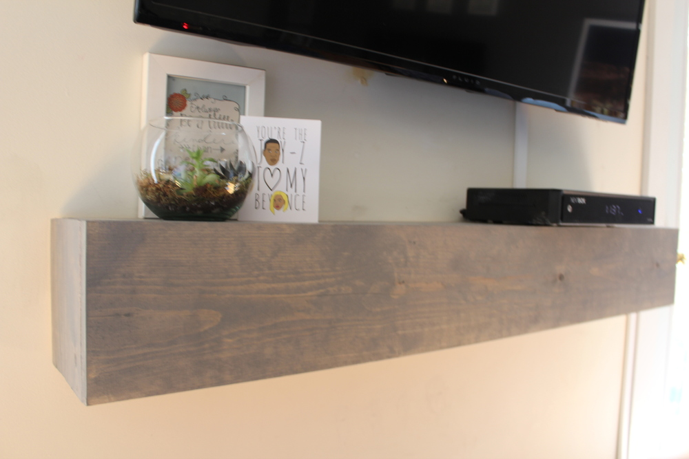 DIY Media Shelf - Calm Chaos Blog