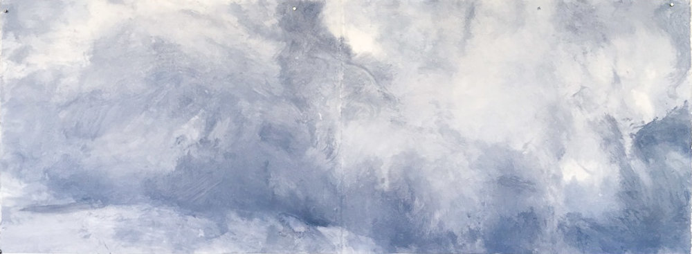 Remember the Tao I 2016 acrylic on paper 22 x 66