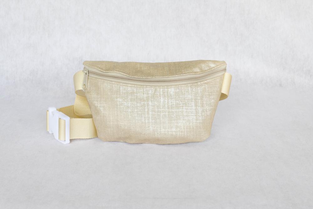 Sassy Pak - Metallic Gold Coated Linen • $58