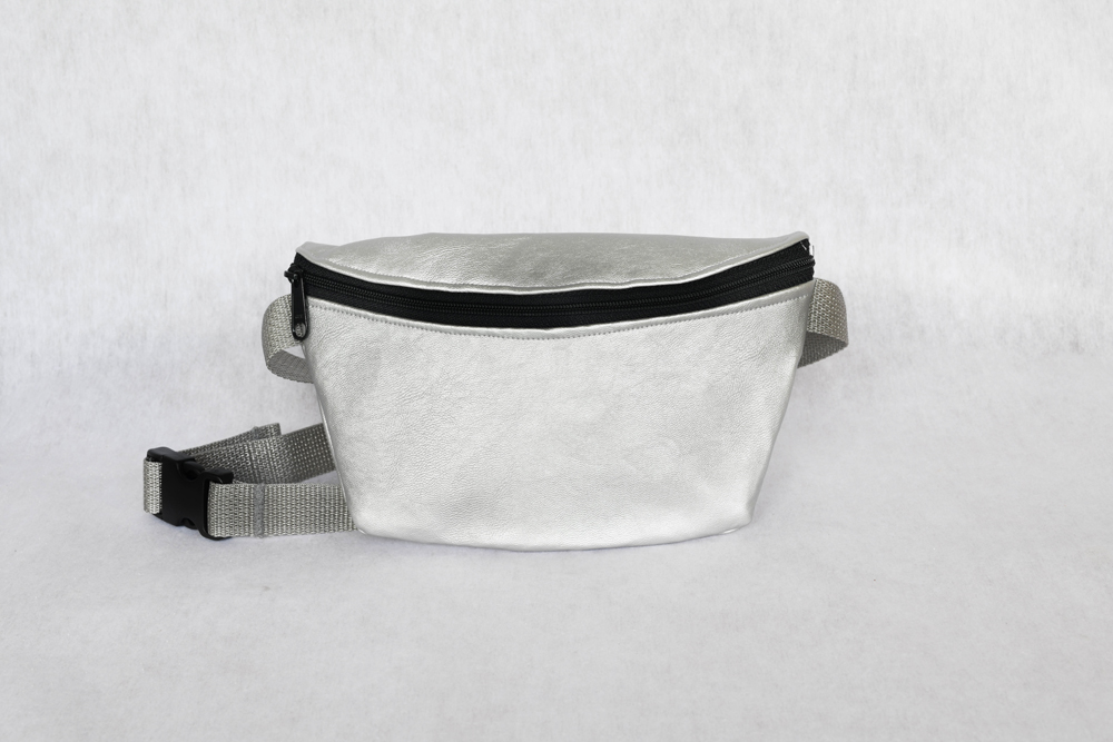 Sassy Pak - Silver Patent Leather • $58