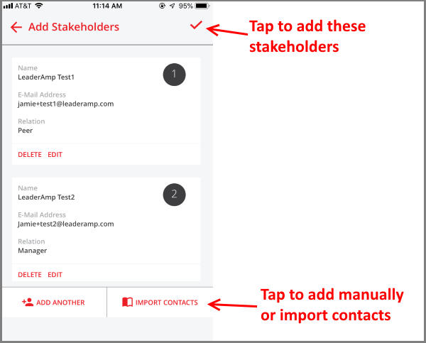 Submitting Stakeholders