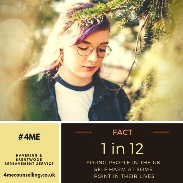 Did you know? - 1 in 12 young people self harm at some point in their lives, though there is evidence that this could be a lot higher. Girls are more likely to self-harm than boys. We offer counselling to young people in this situation 4mecounselling.co.uk  #Charity #HBBS