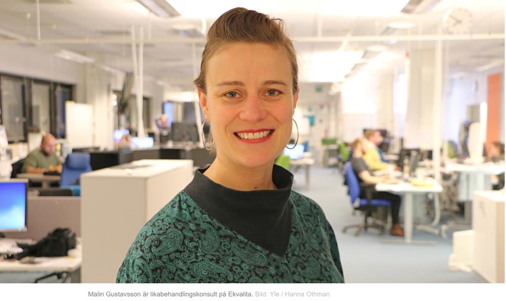 """Namn, kön, etnicitet och ålder ska inte spela roll då Helsingfors rekryterar: """"Större chans att bli kallad till intervju""""  (Svenska Yle, 14.11.2018)"""