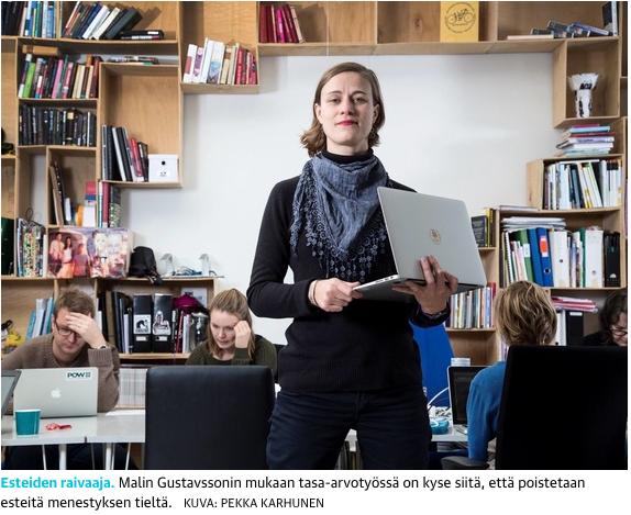 Viisi tapaa menestyä tasa-arvolla  (Optio, Kauppalehti, 25.1.2017)