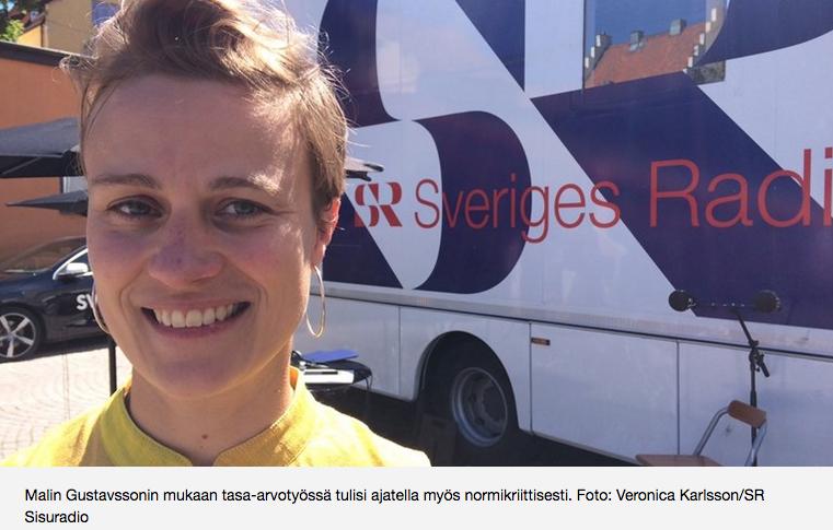 Y hdenvertaisuuskäsite auttaa meitä välttämään syrjintää  (SisuRadio, Sveriges Radio, 5.7.2017)