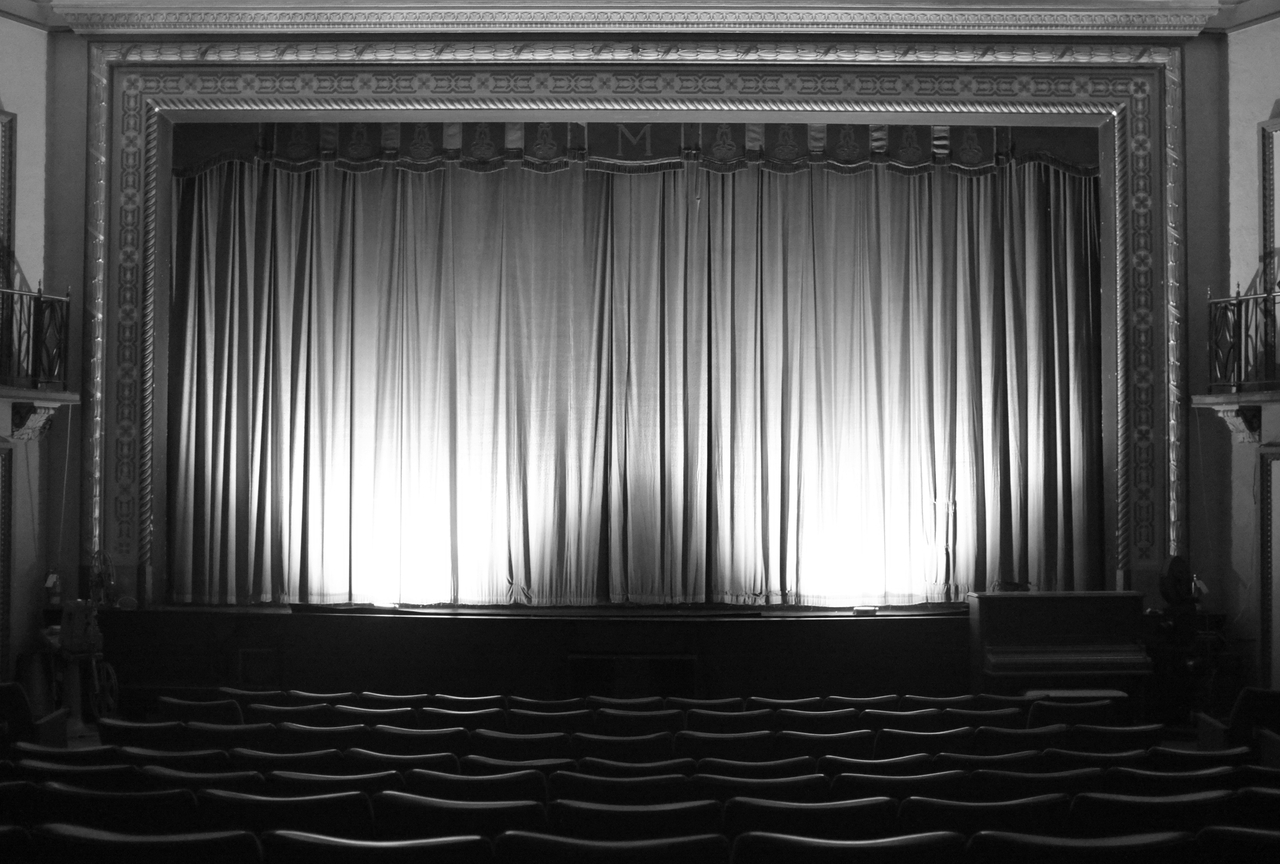 Black and white stage curtain - Black Theatre Curtain Curtains Jpg