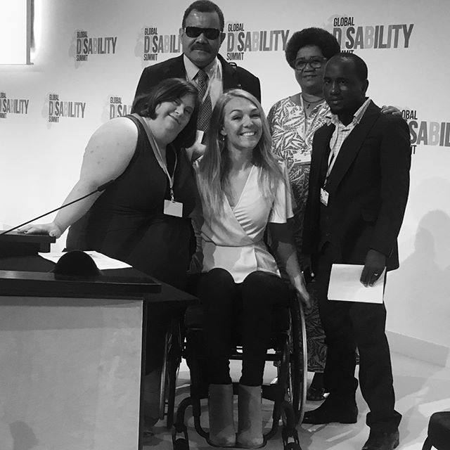 Me and the moderating team for the #GlobalDisabilitySummit which took place in London today. Mia from Lebanon, Seta from Fiji and Mark from Kenya. Extraordinary people with incredible stories to tell. Very proud to work with you on this ground breaking event. #GlobalDisabilitySummit #DiffAbility #DiverseAbilites #NowIsTheTime #Lovemyjob