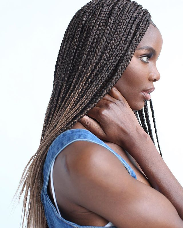 #BoxBraids never go out of style. . . . 100% #TOYOKALON TZ3 braid hair by @supremehairus . . #braidstyles #braidedhairstyles #BRAIDSGANG #blackgirlhairstyles #blackhairmag #blackgirlmagic