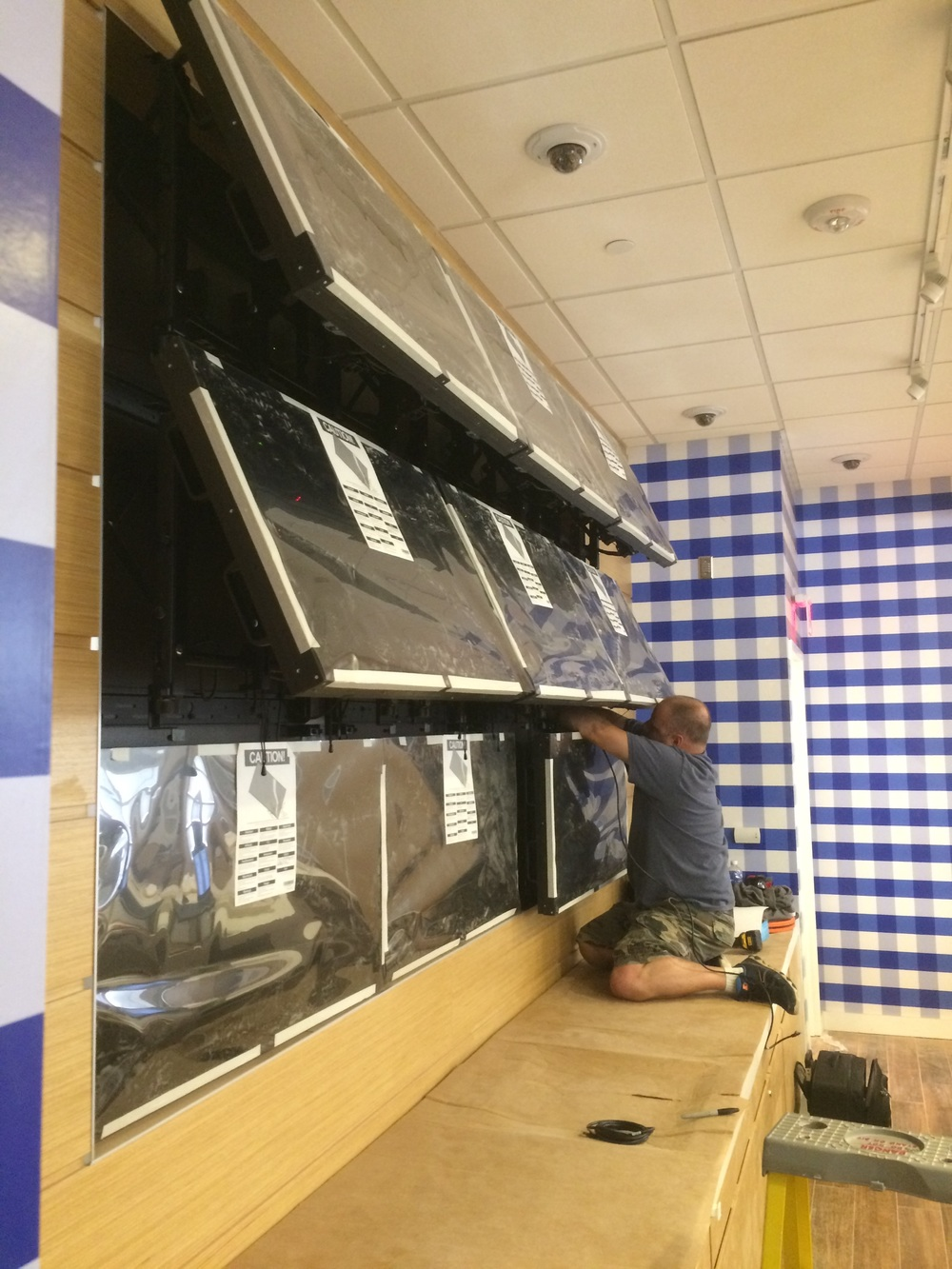 Bath & Body Works Vidoe Wall In Progress.jpg