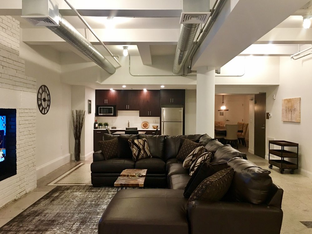 The Lounge (community/party room).  Residents may reserve this beautiful space for private gatherings.