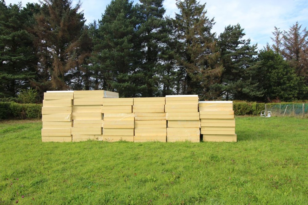 Stock pile of insulation