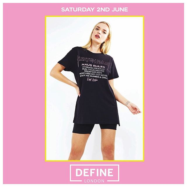 SEE YOU AT THE BARRE 👀💖 We're collaborating with @define.london next Saturday 👀 Come by for dance cardio and 40% off in-store 👯‍♀️