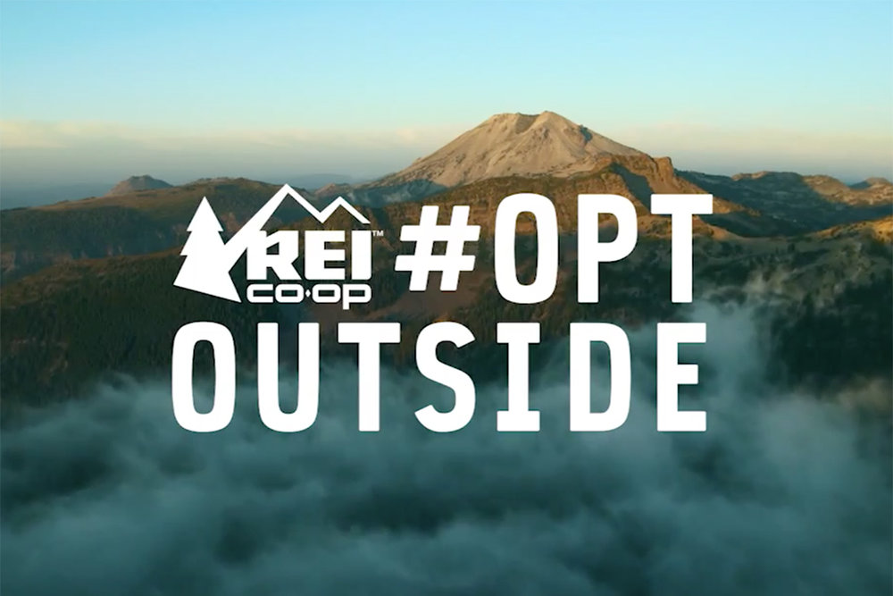 REI's  #optoutside  campaign isn't merely a promotional hashtag but a sincere expression of the brand's core values. The idea was to challenge the American tradition around Black Friday as REI opted to close all its stores that day (and not process online transactions either) so people would enjoy the outdoors. It's worth noting that this effort goes hand in hand with REI's business model, which functions as a cooperative. In other words, it's an authentic way of reinforcing the sense of complicity that REI shares with its customers, thus an integral part of a broader and long-term brand story.