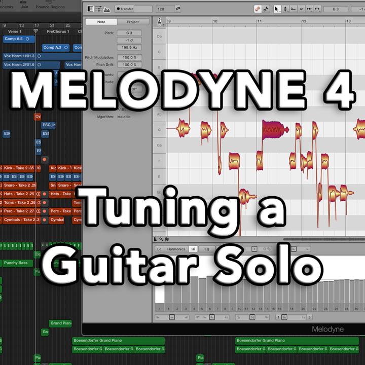 Melodyne 4 - Tuning a Guitar Solo