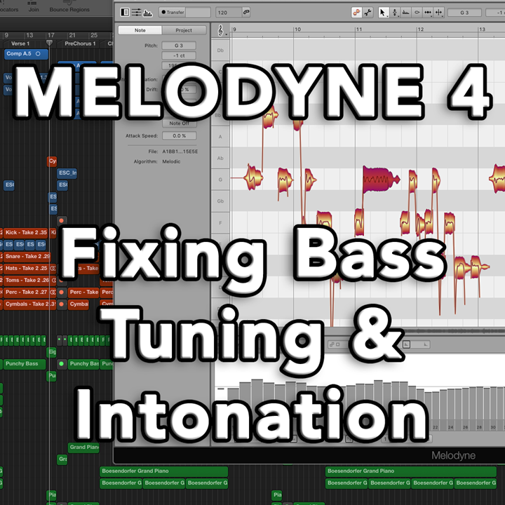 Melodyne 4 - Fixing Bass Guitar Tuning, Intonation, and String Tension Issues